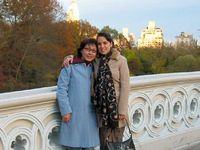 me and my mummy in central park nyc