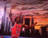 Yes i really designed this its a mural that i did for a guy's son's room its 18 feet high & 16 feet wide . Yes this young man has art skill been drawing since i was big enough to hold a crayon LOL LOL
