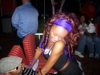 Me getting a lap dance at a club I was fresh that night lol