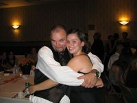 My cute little cousin and I acting goofy at the reception.