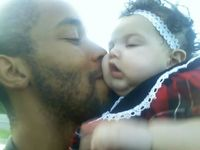me nd my baby girl ja'leah after she came back from church