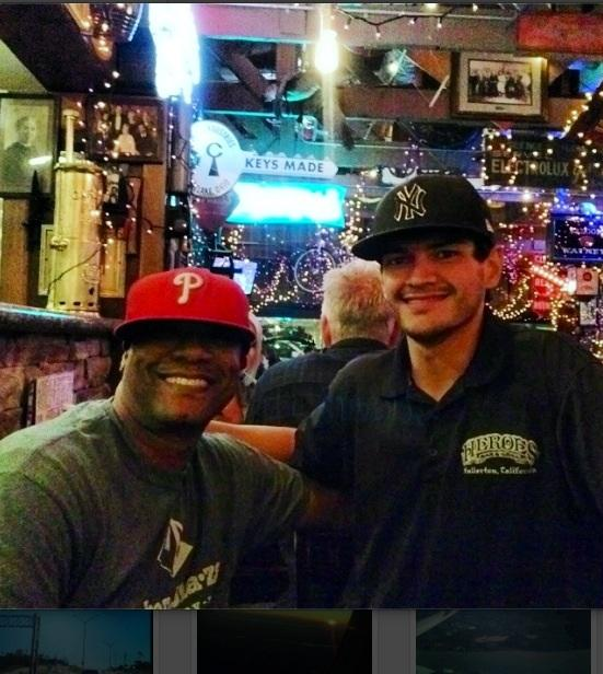 Home boy back in Fullerton @Heroes Bar.
